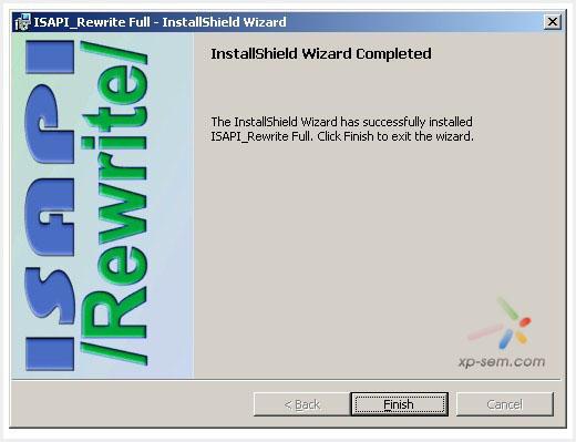 IIS伪静态组件安装成功